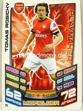 Match Attax 2012/13 Premier League - #015 Tomas Rosicky - Arsenal London