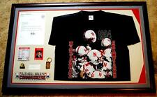Nebraska Cornhuskers 1994 Framed Presentation Display Signed By Governor Nelson