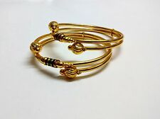 Fashion Jewelry Bangles South Indian Ethnic Gold Plated Bracelet size 2.6