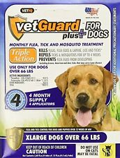VetGuard Advantage Dog Flea Tick Lice Drops Treatment for X-Large Dogs, 4 mo.
