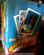1989 TOPPS WAX BOX 540 baseball cards 36 packs  RANDY JOHNSON @ $12.50