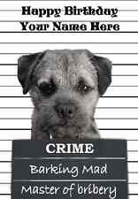 Border Terrier Happy Birthday PID110 A5 Personalised Greeting Card