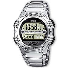 Casio reloj digital w-756d -7 aves reloj de pulsera caballero mujer negro plata nuevo & OVP