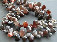 """HAND FACETED SCAPOLITE DROPS, approx 6x9mm, 8"""", 46 beads"""