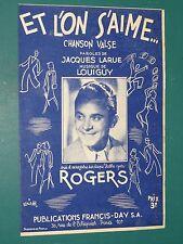 """Partition LOUIGUY Jacques LARUE ROGERS """"Et l'on s'aime"""""""