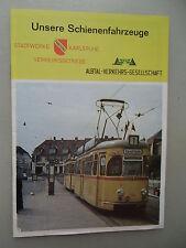 Unsere Schienenfahrzeuge Stadtwerke Karlsruhe Albtal-Verkehrs-Gesellschaft 1968