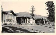 Jasper National Park Alberta Canada view of lodge cottages real photo pc Y15283
