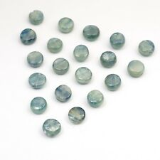 20 kyanite blue smooth small flat round disk beads semiprecious stone 8mm