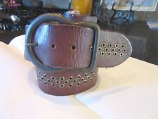 NWOT Olga Santini Belt studs with leather Size Small S 28-32