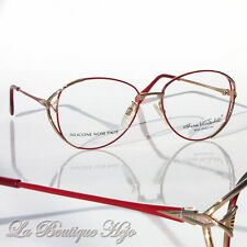 vintage 80's GLORIA VANDERBILT 162 Brille gold/red, Glasses Frames Lunettes
