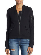 NWT $295 JAMES PERSE Black Brushed Fleece Bomber Jacket Coat - Size 2 (S/M)