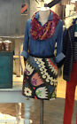 NEW Anthropologie Tulipa Embroidered Skirt by Vanessa Virginia 2 2P, 5 Star Rev