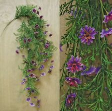 New LAVENDER STAR DAISY Hanging Flower Vine Primitive French Country