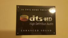 DTS HD Home Cinema metal sign high sheen professional finish Theatre sign