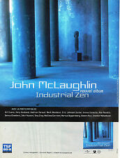 PUBLICITE ADVERTISING 124  1995  TSF radio 89.9 JOHN MC LAUGHLIN  INDUSTRIAL ZEN