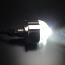 Bright White 12V 1/2'' NPT Underwater LED Drain Plug Light Waterproof Marine