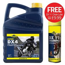 4L Putoline Super DX4 10W/40 Semi Synthetic Motorcycle Oil & DX11 Chain Lube