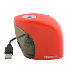 Automatic Red Electric Battery Pencil Sharpener For Office Students Desktop