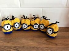 EASTER KNITTED MINIONS CREME EGG COVERS X 6
