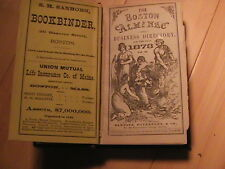 1873 BOSTON ALMANAC AND BUSINESS DIRECTORY MANY BUSINESS ADS