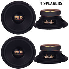 """Lot of 4 NEW Pyramid W64 Woofers 6.5"""" 400W MidBass Poly Woofer Midrange Speakers"""