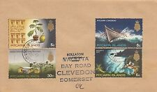 J 686 Pitcairn Island December 1975 cover UK;  49c rate; 4 stamps