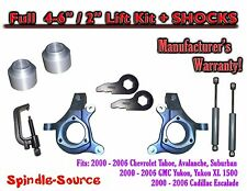 "2000 - 2006 Chevrolet GMC 1500 4-6"" / 2"" Lift Kit Spindles Spacer TOOL + SHOCKS"