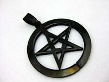 Top Quanlity New Mens Biker Pentagram Black Stainless Steel miraculous pendant