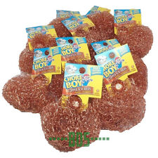 12 Chore Boy Copper Scrubber Scouring Pad 100% Pure Copper New Steel Wool