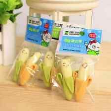 2Pcs Funny Cute Banana Pencil Eraser Rubber Novelty Toy For Children Kids