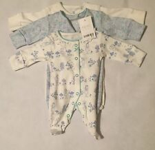 Newborn Baby Girls NEXT Bodysuit Baby Grow White Blue Floral New With Tags