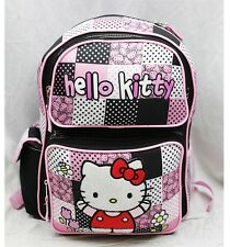 "NWT Hello Kitty 14"" Medium Backpack Bag Black Newest Style Licensed Sanrio"
