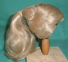 "doll wig blond 8"" to 8.5"" short hair with ponytail"
