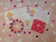 Pink Tooth Fairy Kit - Bracelet,Fairy Dust, Tooth pouch, sticker and poem cards