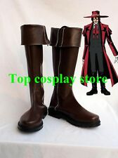 Hellsing Alucard Brown Cosplay Boots shoes #HO001