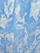 AMERICAN ARMY CAMOUFLAGE PRINT POLAR FLEECE FABRIC -NATURE CAMOUFLAGE BLUE - 926