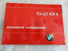 1980 BMW 528i Owners Manual 528 i