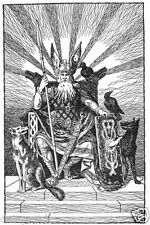 Odin The Allfather Norse Mythology Germanic God Paganism 7x5 Inch Print