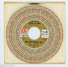 Checkmates, Ltd. 1969 A&M 45rpm Love Is All I Have To Give b/w Lied Phil Spector