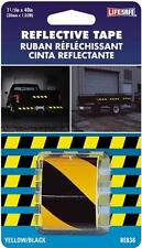 "NEW INCOM RE838 LIFESAFE 1 1/2"" X 40"" YELLOW & BLACK REFLECTIVE TAPE 3060365"