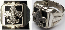 Vintage BSA Boy Scouts Sterling Silver & Black Onyx Ring