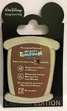Disney WDI Wait Time Sign Disneyland Railroad Mickey's Toontown Station LE Pin
