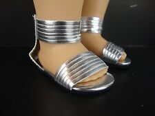 Silver Strappy Sandals for the 18 Inch Doll Made for the American Girl Doll