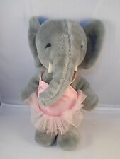 "1979 Determined Productions TASHA Elephant Ballet Ballerina Plush 12"" w/ Tutu"