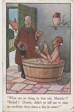 POSTCARD COMIC  What are you doing in the tub Murphy ?....