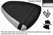 WHITE & BLACK CUSTOM FITS SUZUKI TL 1000 R 98-02 REAR SEAT COVER