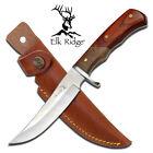 """NEW! Elk Ridge 9.5"""" Full Tang Wood Fixed Blade Hunting Skinning Knife w/ Sheath"""