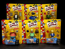 2000 PLAYMATES TOYS THE SIMPSONS SERIES 2 WORLD OF SPRINGFIELD 6 FIGURE SET S12