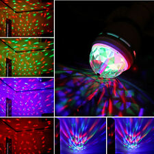 E27 Crystal Ball Stage Light RGB LED Auto Rotating Lamp Party Disco DJ Mini Bulb