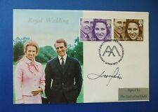 1973 ROYAL WEDDING WESTMINSTER ABBEY FIRST DAY COVER SIGNED BY LORD LICHFIELD